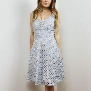 LOFT Light Blue Eyelet Sleeveless Dress